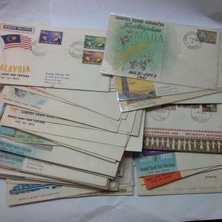 Malaysia 1960s 1970s First Day Covers stamps $3 Each