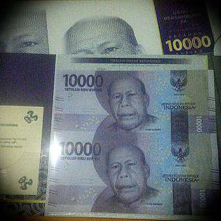 Ready uncutt 2X Ina bank note