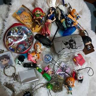 Assorted Anime Keychains and more