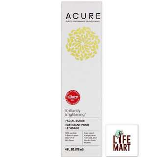 *FREE MAIL* Acure Organics, Brilliantly Brightening Facial Scrub (118ml)