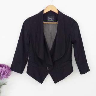 TOKO Black Crop Blazer Jacket