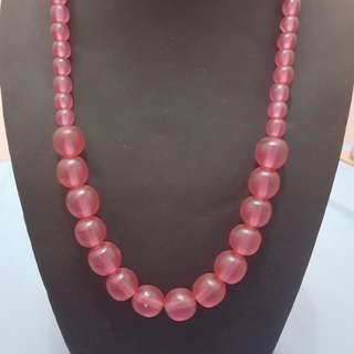 Pink Bead Necklace from Bali