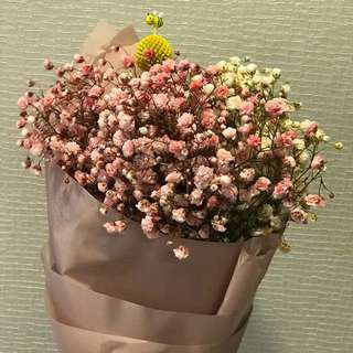 Be My Sweet - Valentine Day Gift Colourful baby breath