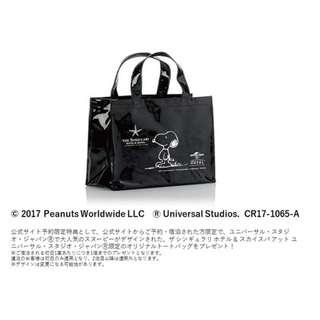 日本限定 SNOOPY 聯名 日本環球影城 USJ 特製 亮面 PVC 托特包 手提袋 購物袋 環保袋