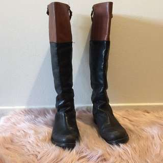 Real Leather Knee High Boots - size 7.5