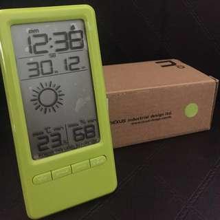 Nexus K0381 LED 迷你天氣預報鬧鐘