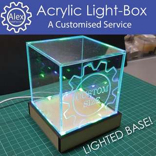 Acrylic Light-Base - Choose with Acrylic Box and/or Base. Customize for Home / Office / School Projects.