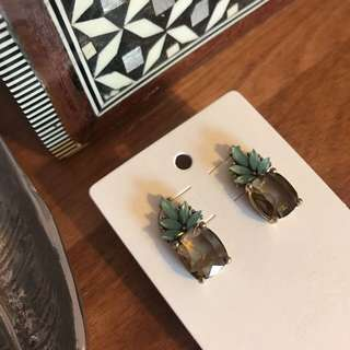 BANANA REPUBLIC Pineapple Jewel Stud Earrings