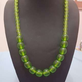 Green Bead Necklace from Bali
