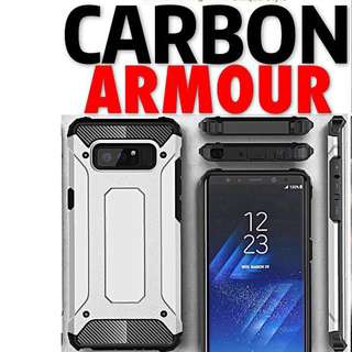UME Carbon Armour Case Cover iPhone Samsung Xiaomi Oppo