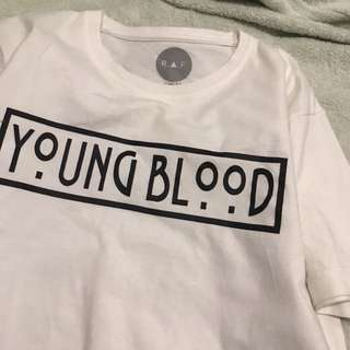 authentic therafstore raf white young blood tee shirt top T