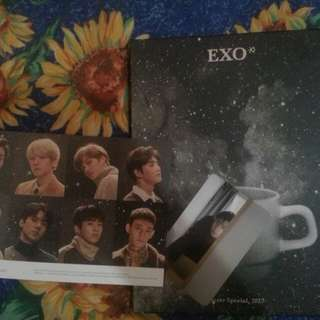 EXO UNIVERSE ALBUM W SEHUN PC SPECIAL POSTCARD AND 2 POSTER (FOLDED)