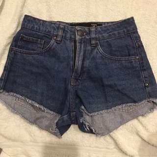 factorie denim mid waist shorts hws mws