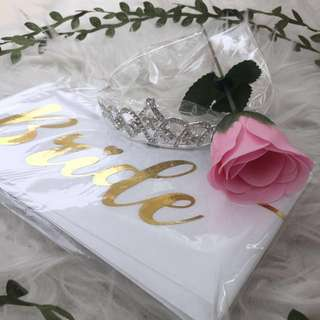 Bride To Be Sash Set ( Garden Romance)