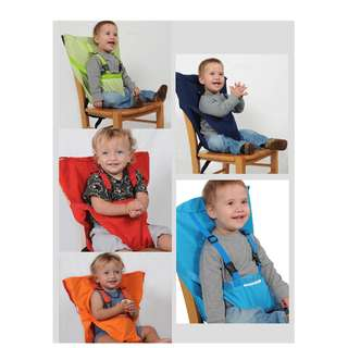 Portable Travel High Chair Booster Baby Seat Harness Washable Cloth Packable Sack'n seat