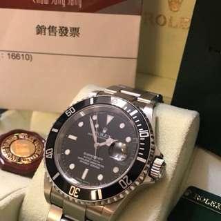 Rolex 16610 Z series Fullset 888 大行買單 包上行 有盒紅牌綠牌