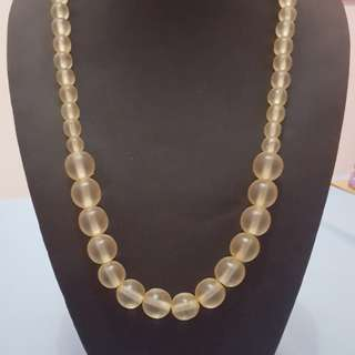 Clear Bead Necklace from Bali