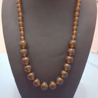 Brown Bead Necklace from Bali