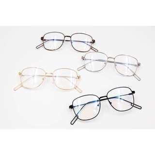 Eye Glasses Fashionable Metal Frame Replaceable Lenses