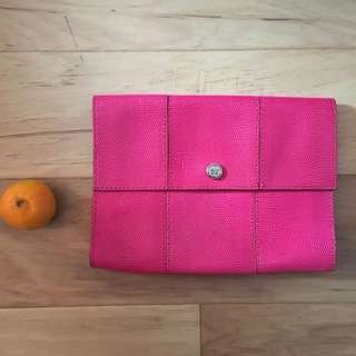Club Monaco large leather clutch