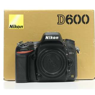 Nikon D600 DSLR Body Only (SC 1K+)
