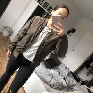 Forever 21- Army Green Bomber Jacket