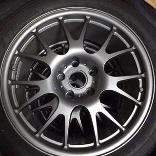 正 Neez 鍛造輕量化17吋 PCD112 BENZ AUDI VW SKODA