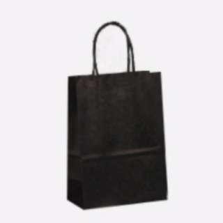 BN 5 pcs paper bag shopping black 15 x 21 x 8cm