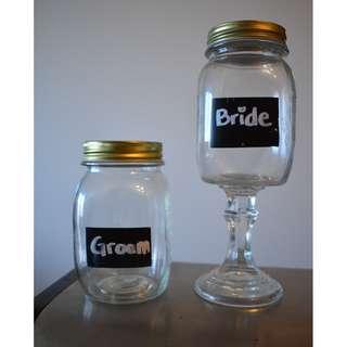 Bride and Groom Jars