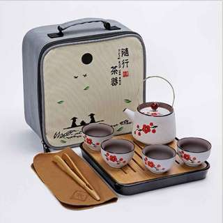 旅行茶具 陶瓷手繪 紫砂茶具 功夫茶具 商務 便攜式茶具