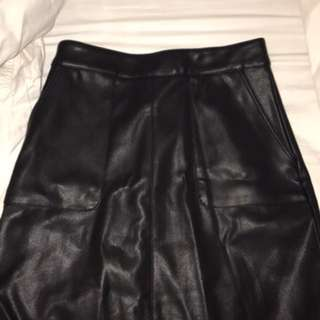 Sports Girl Leather Skirt