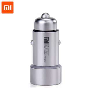 Original Xiaomi Car Charger 2-in-1 Double USB Cigarette Lighter Adapter for iPhone iPad Samsung