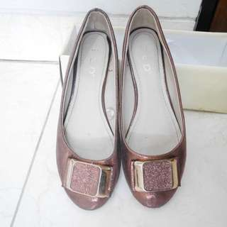 Glittery brown shoes