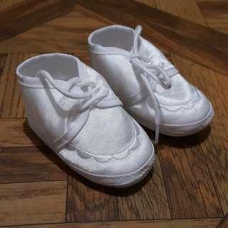 Baptismal Soft White Shoes 0-6m