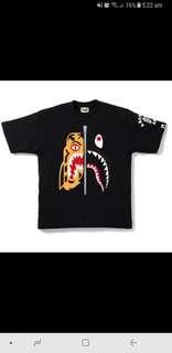 LF > BAPE Tiger Shark Tee Size L