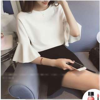 White Korean blouse