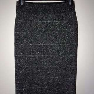 Sparkly BCBG bodycon skirt, small