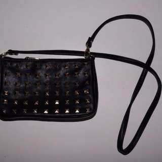 Faux Leather Studded Crossbody Purse