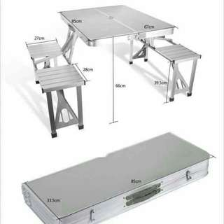 Foldable Aluminum table Set