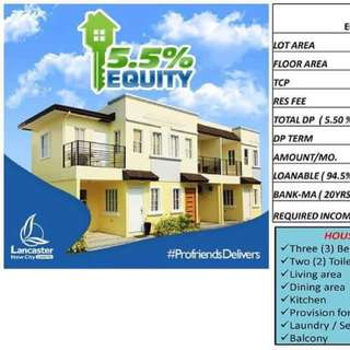 Lancaster New City Cavite Rent to own house and lot