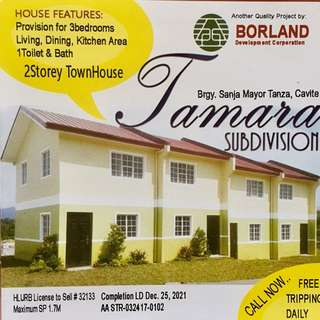 Affordable Rent to Own House and Lots Cavite (Tamara Subdivision Tanza Cavite)