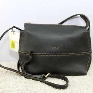 FURLA Dori Soft Leather Crossbody Bag-BLACK