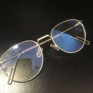 Silver Framed Clear Lens Glasses