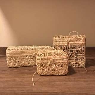 6 pcs. Twined Abaca Boxes