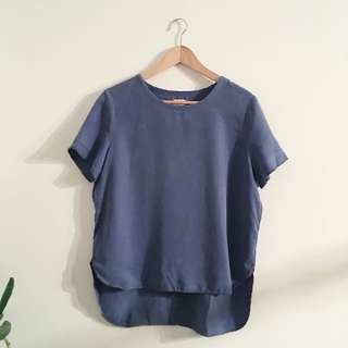 Oak and fort - loft 82 - blue tencel tee | small