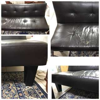 Leather-Like Sofa Bed P1,900 ONLY