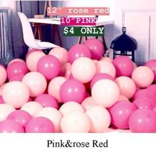 Latex Balloons 20pcs./Rosepink /Light Pink