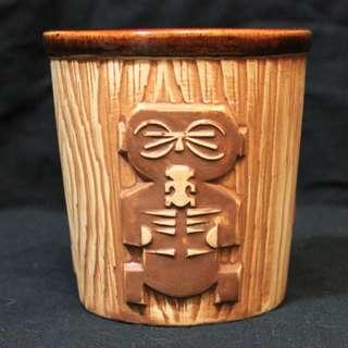 Tiki Mug Vintage 1970s Ceramic Harvey's Lake Tahoe Tiki Bucket Mug Made in Japan