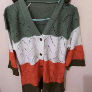 Knit multicolor outer