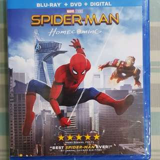 Spiderman Homecoming Bluray from the USA